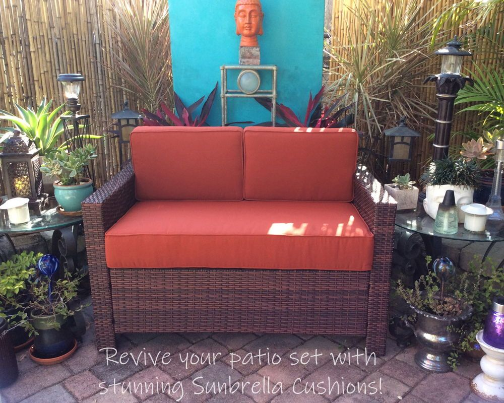 A Second Hand Patio Sofa Was Transformed With These Thick