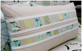 strip pieced pillow