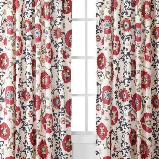 Target Mudhut Suzani Vine Window Panel Red 55x84 Image