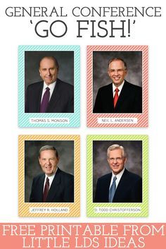 General Conference Go Fish!: LDS Apostle Cards printableLittle LDS Ideas