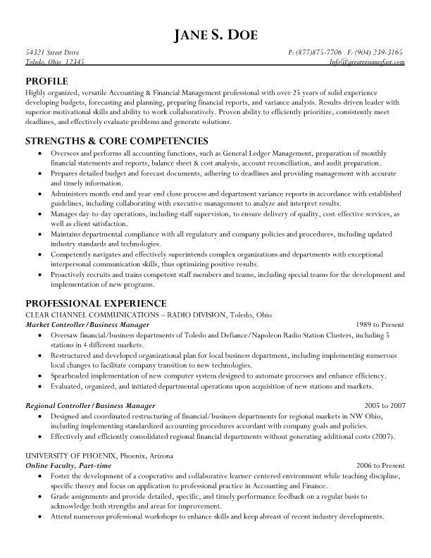 Resume Examples Business Management Business Examples Management