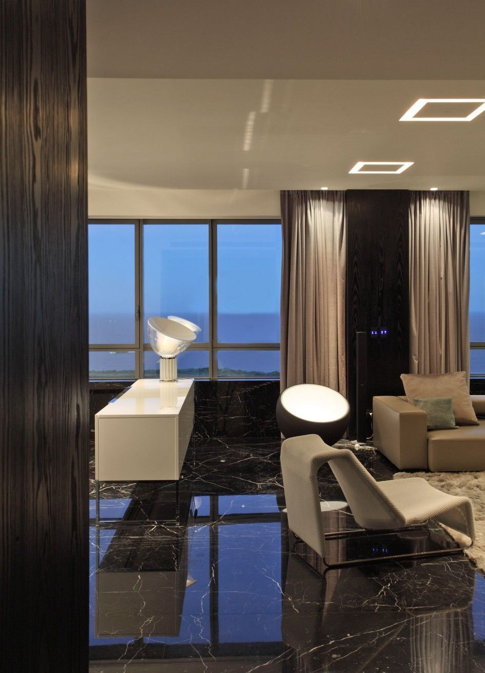 Architecture Black Marble Floor Texture For Living Room With Black
