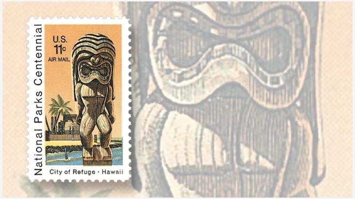 united-states-tiki-city-of-refuge-hawaii-stamp.jpg 730×410 pixels