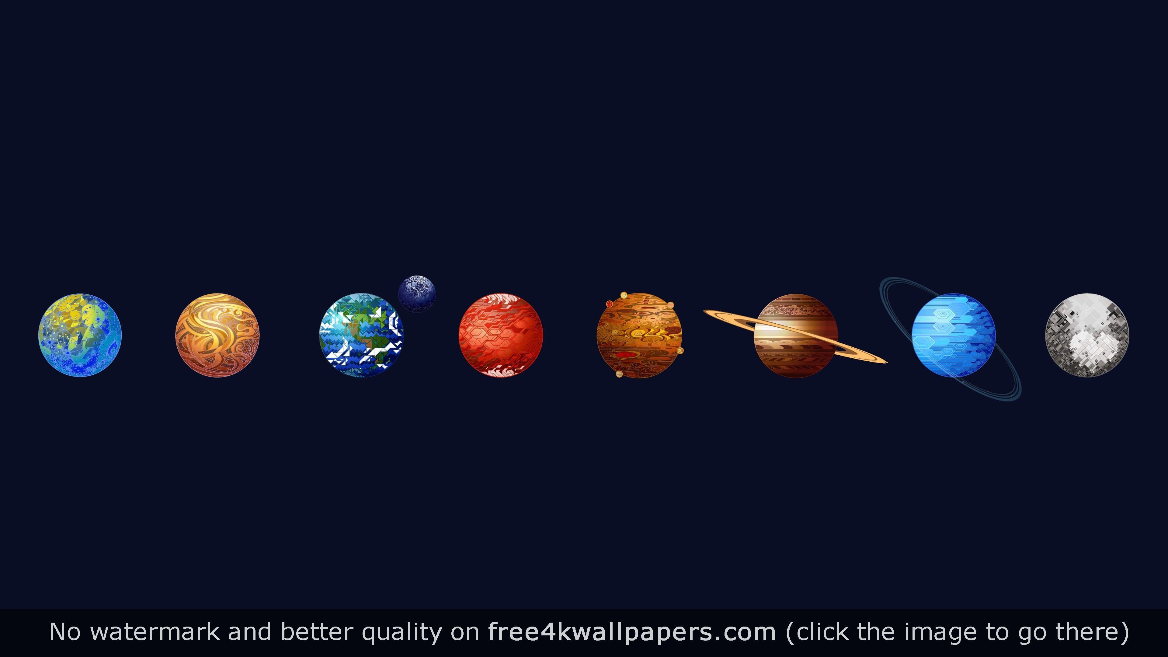 Фото всех планет космоса на одной картинке