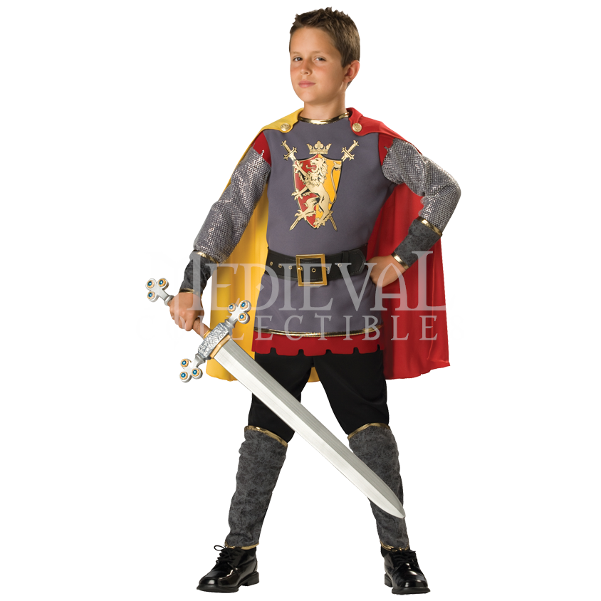 Incharacter Loyal Knight Medieval Warrior Child Boys Halloween Costume 17006