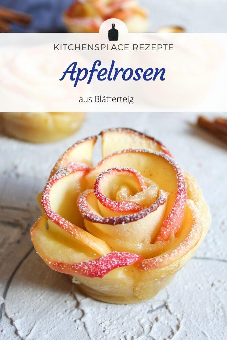 Apfelrosen aus Blätterteig – kitchensplace