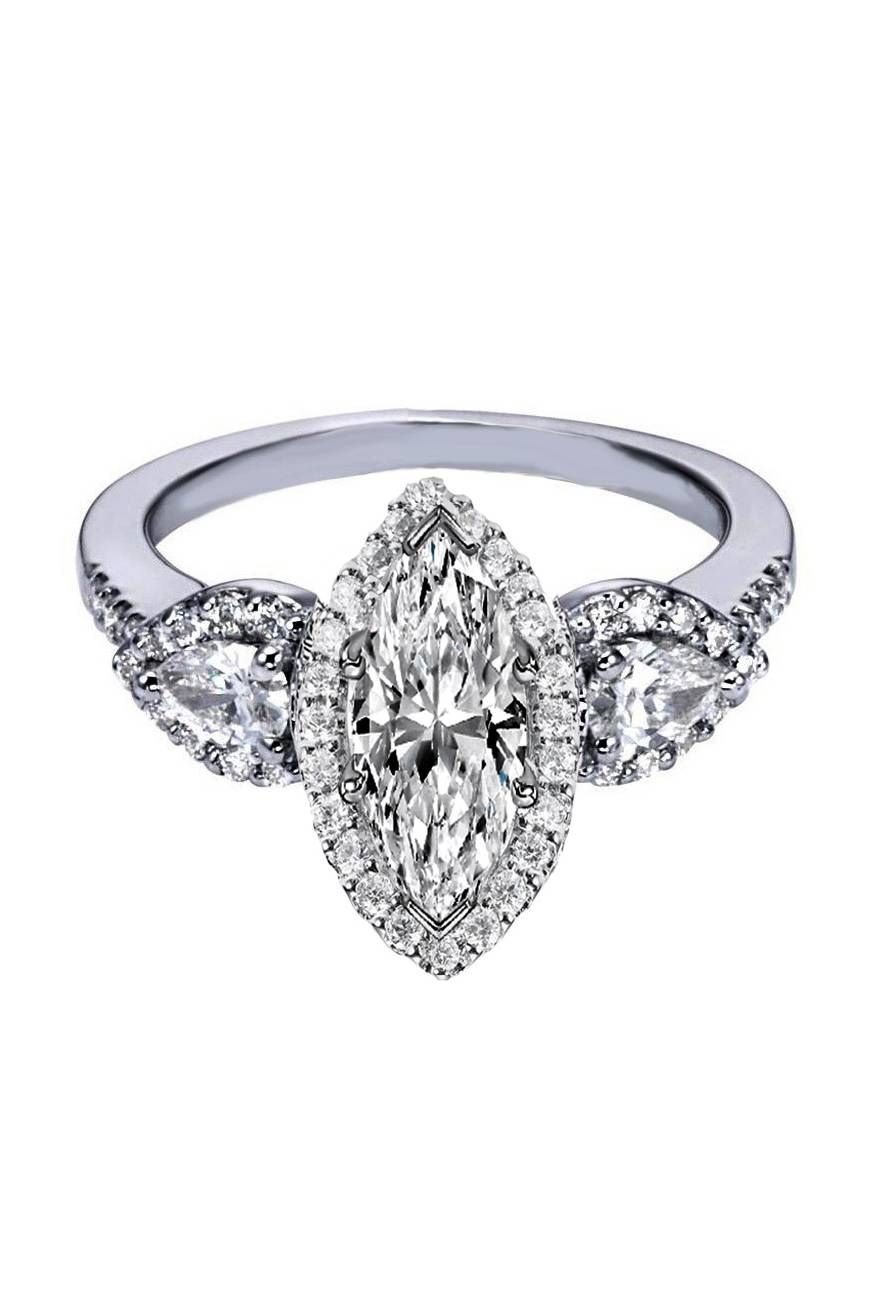 marquise diamond halo engagement ring pear shape side. Black Bedroom Furniture Sets. Home Design Ideas