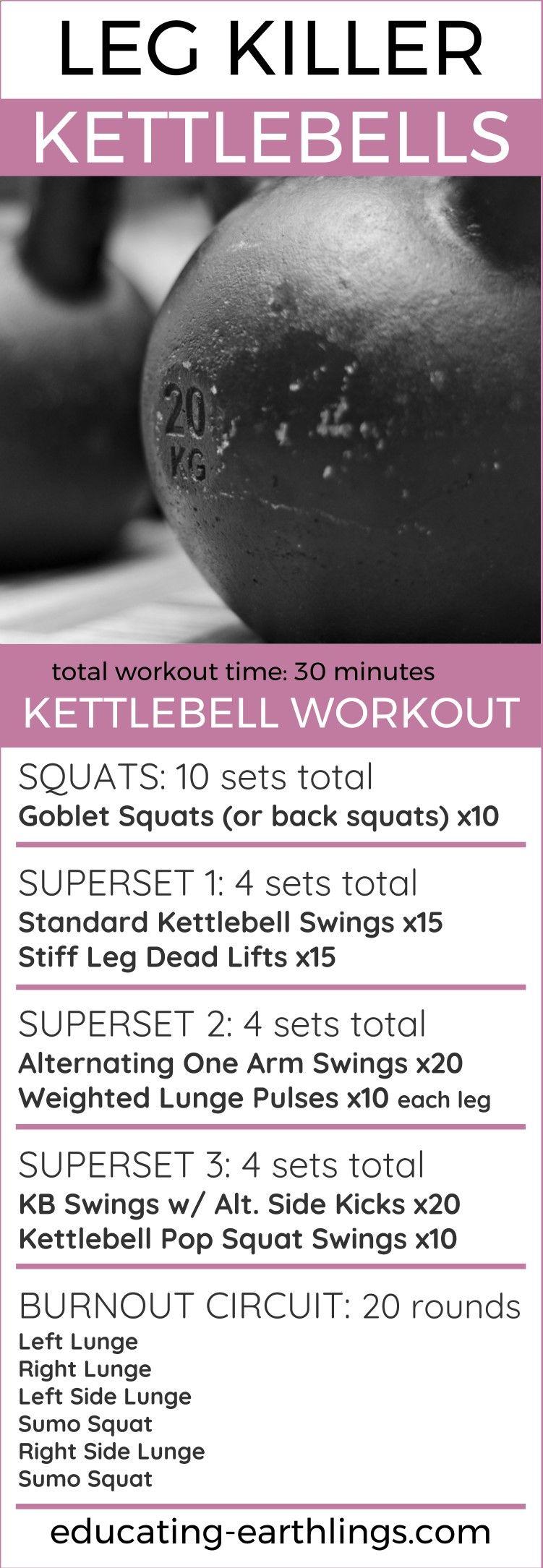 The EFactor Diet  leg killer kettlebell workout leg workout at