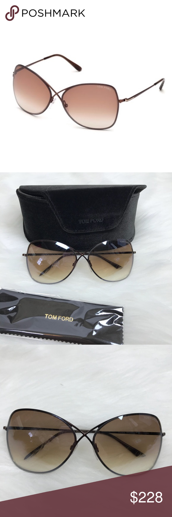 cd83dd89f4c Tom Ford Colette Metal-Frame Butterfly Sunglasses Tom Ford Colette  Metal-Frame Butterfly Sunglasses