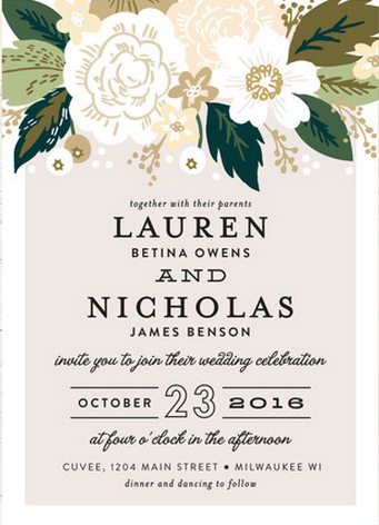 Floral inspired invitations http://www.theperfectpalette.com/2015/09/welcome-to-weekend-friday-link-love_4.html