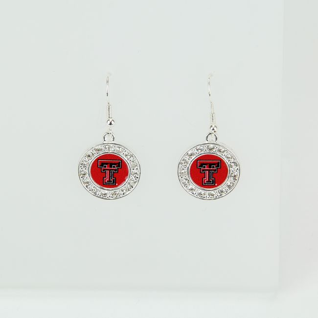 Texas Tech Jewelry Diamontrigue Jewelry: Texas Tech Crystal Circle Earrings Browse Our Selection Of