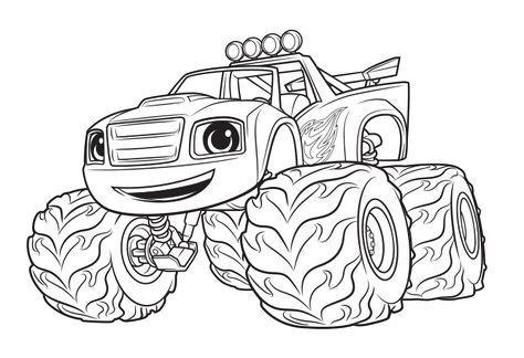 Monster Machine Coloring Pages Blaze Kids Coloring Pinterest