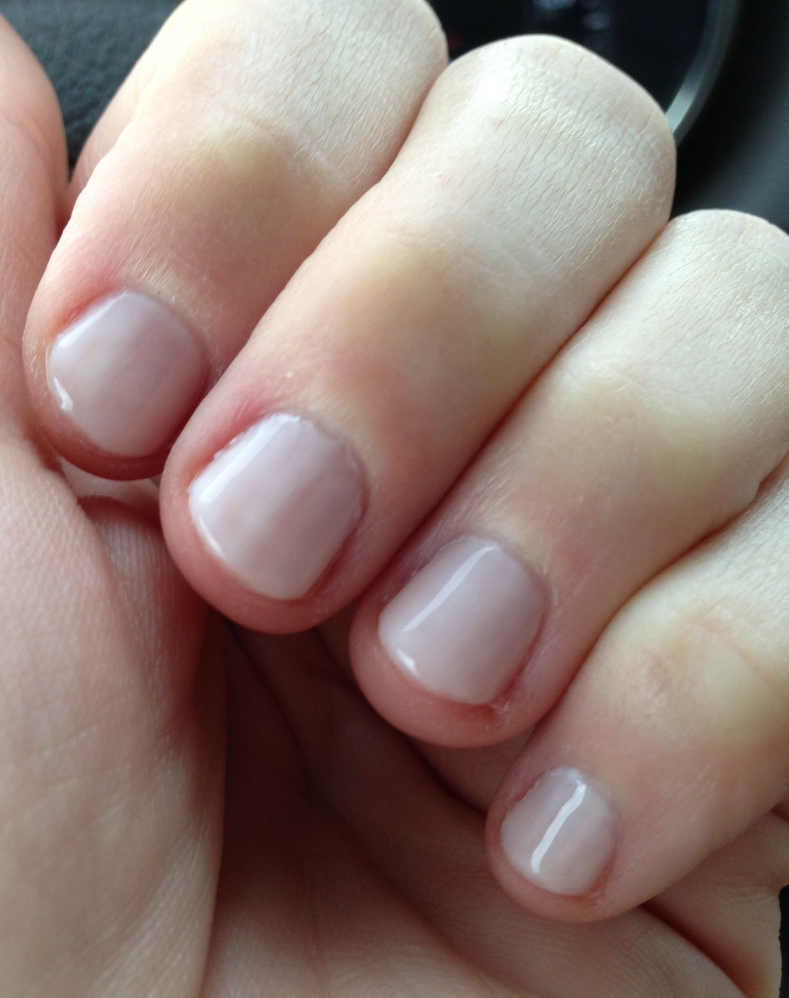 Cnd Shellac Romantique Layered With Studio White As The 1st