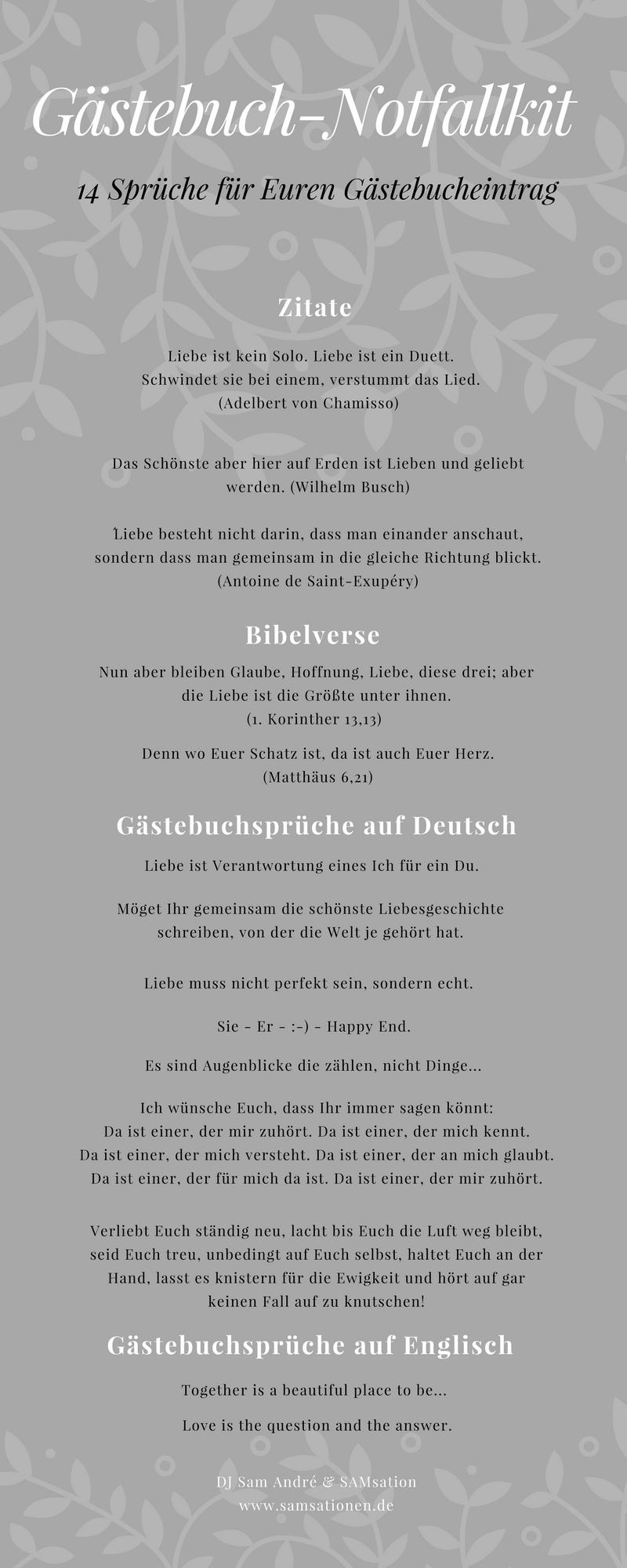 Gästebuch Notfallkit Sprüche Hochzeit Spruch Gästebuch