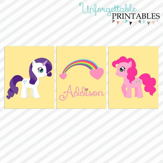 My Little Pony Wall Prints set of 3 by SealsItWithAKiss on Etsy ...