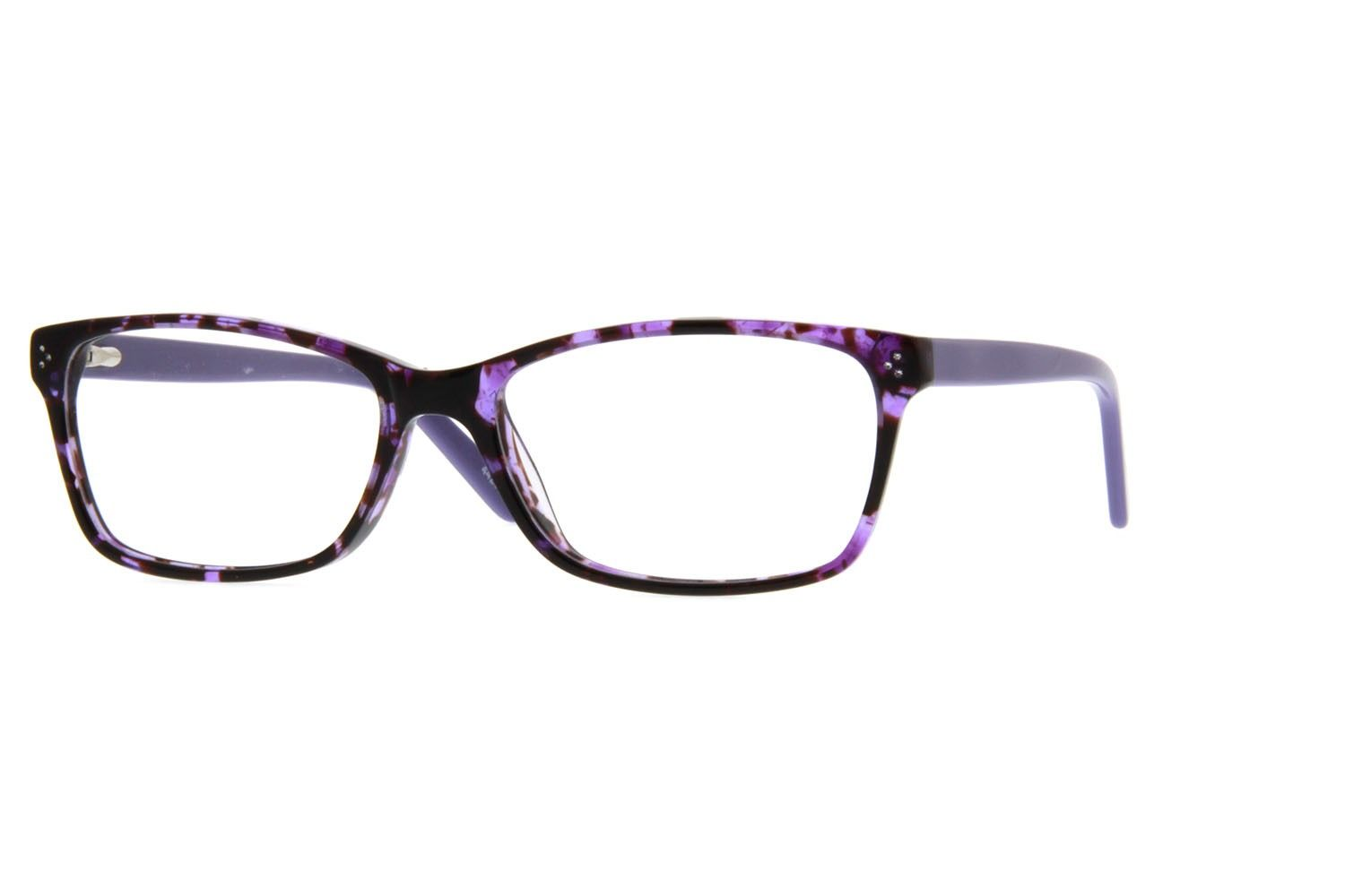 Purple Thin Acetate Eyeglasses #4420317 | Zenni Optical Eyeglasses ...