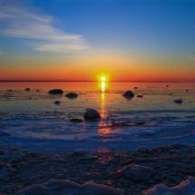 Swedish coast sunset
