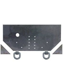 1809040 1 2 Fabricators Hitch Plate With Pintle Hook Mounting Holes Freight Truck Electrical Components Plates