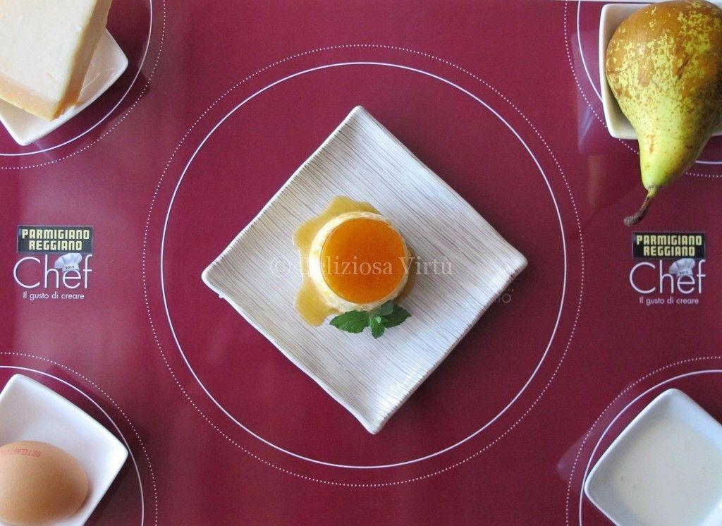 Creme caramel pere e parmigiano 1