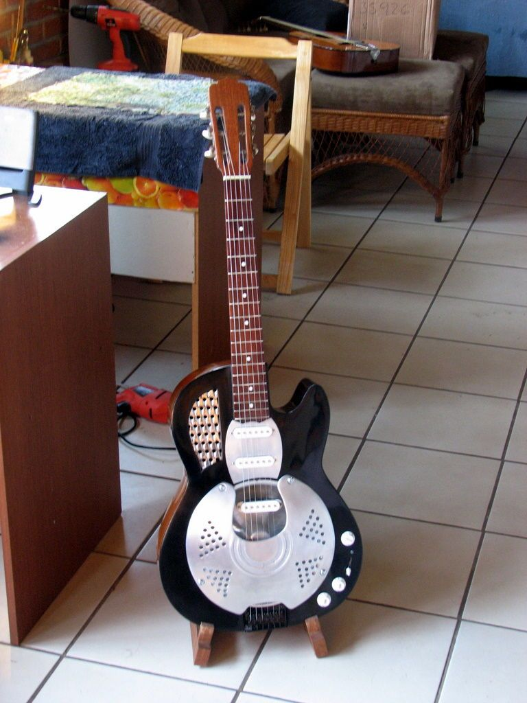 resonator guutar converted from acoustic