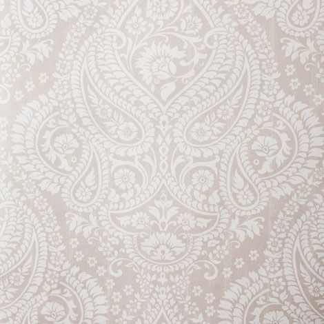 Gray Grey And White Paisley Wallpaper