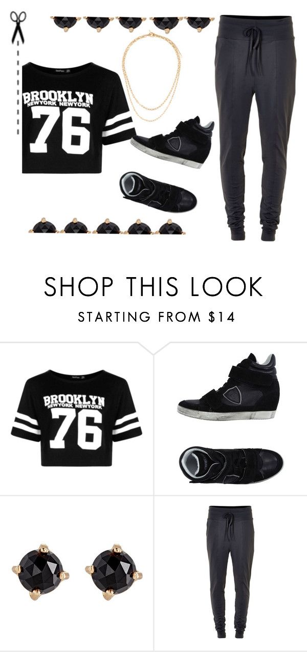 """""""Untitled #276"""" by aschwing ❤ liked on Polyvore featuring Boohoo, Philippe Model, Irene Neuwirth, Soaked in Luxury and Hermès"""