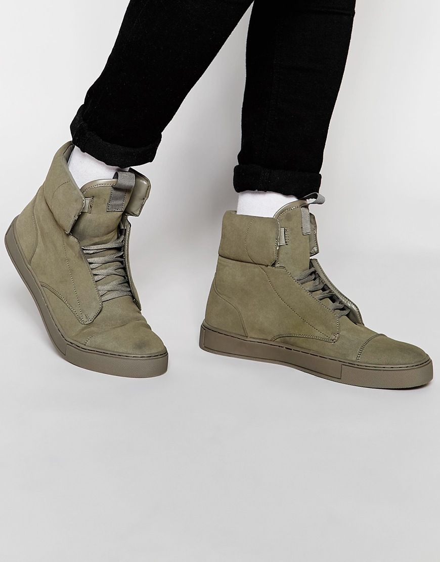 ASOS Collection Shoes Boots Sneakers Men ASOS Hi Top Sneakers With Padded Cuff