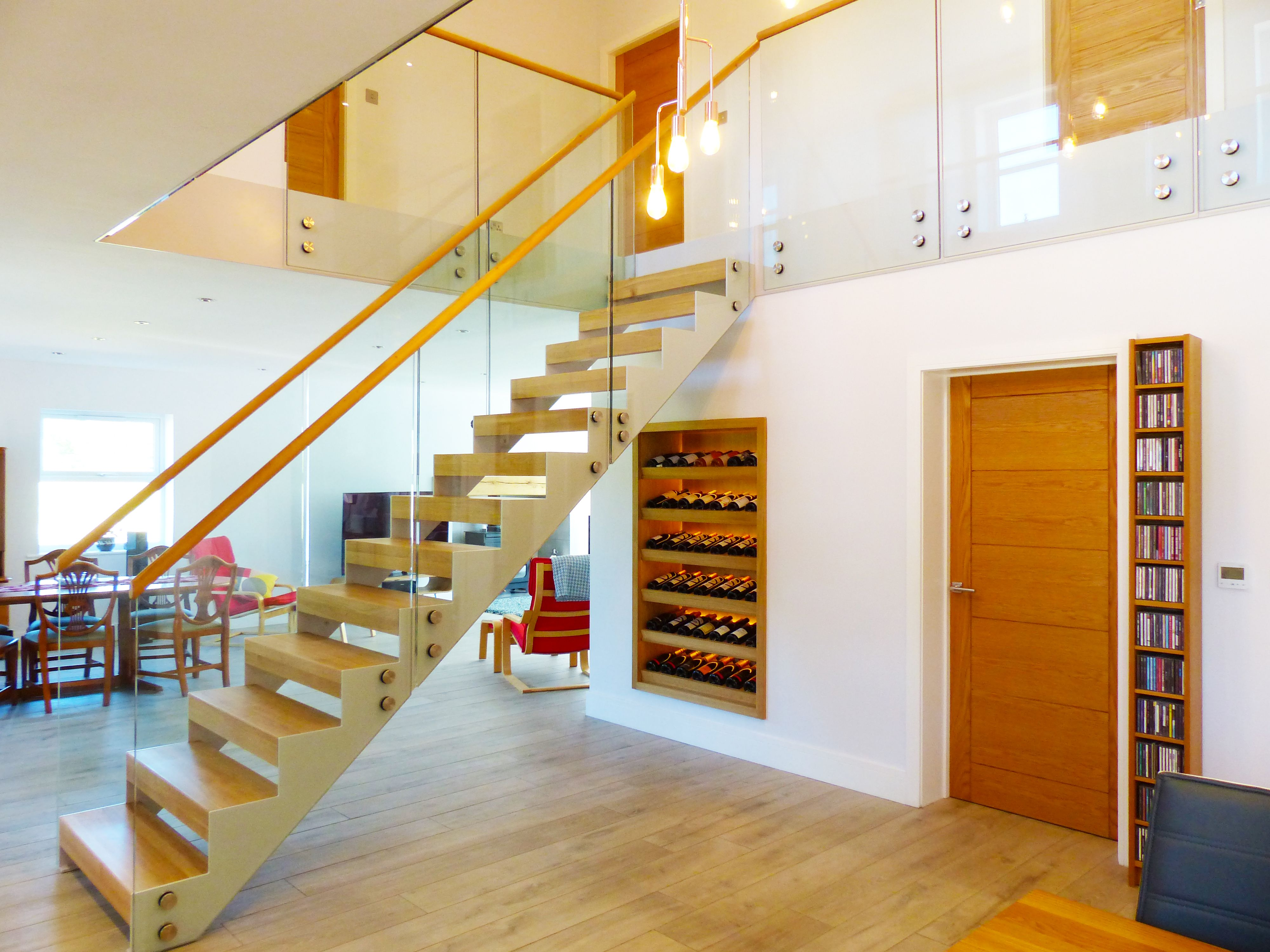 Best A Gorgeous Modern Looking Straight Flight Staircase With 400 x 300