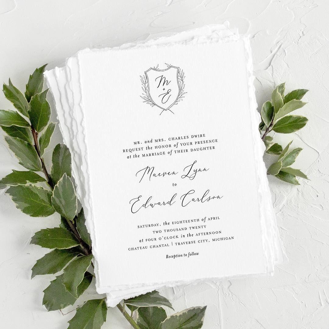 soft pillowy edges on this organic wedding invitation blonde