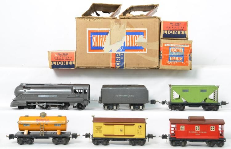 Western Bedroom Tank Toy Box Or: Lionel Prewar O 187W Set In Original Set Box With Inner