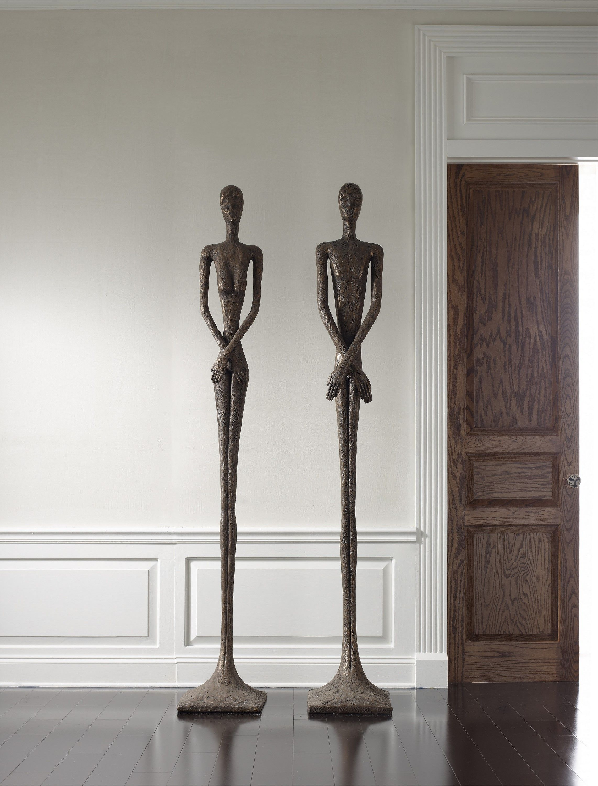 Our Male And Female Skinny Sculptures In Our Bronze Finish Bronze Sculpture Phillipsco Phillips Collection Resin Sculpture Sculpture