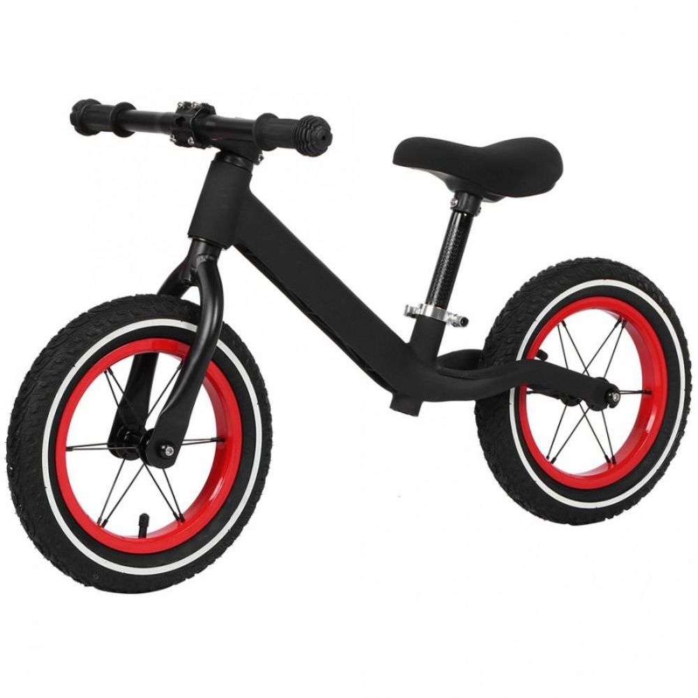 12 Inch Black Kids Children No Pedal Bicycle Anti Slip Two Wheel Sliding Bike 2 6 Years Old Child Bike Sports In 2020 Kids Bike Black Kids Bicycle