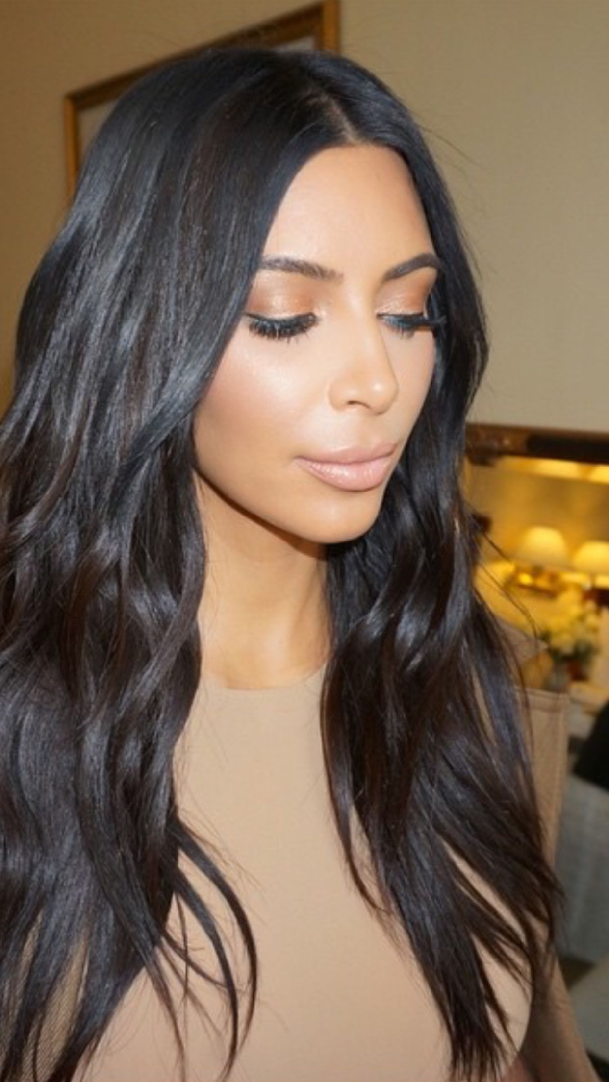 Kim Kardashian hair April 2015 this board for the Khronology of