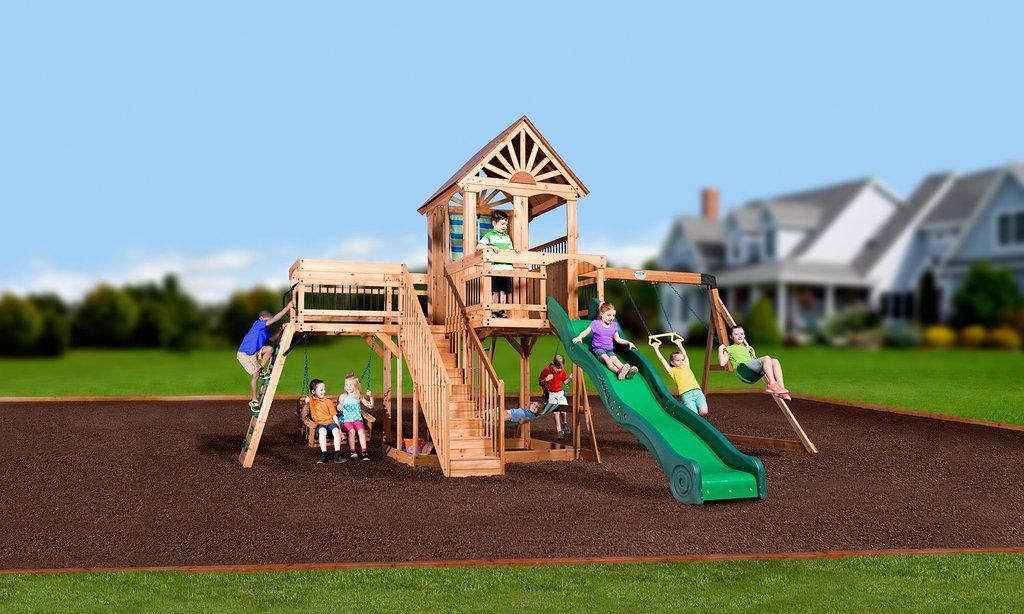 Backyard Discovery Playsets - Caribbean Wooden Swing Set # ...