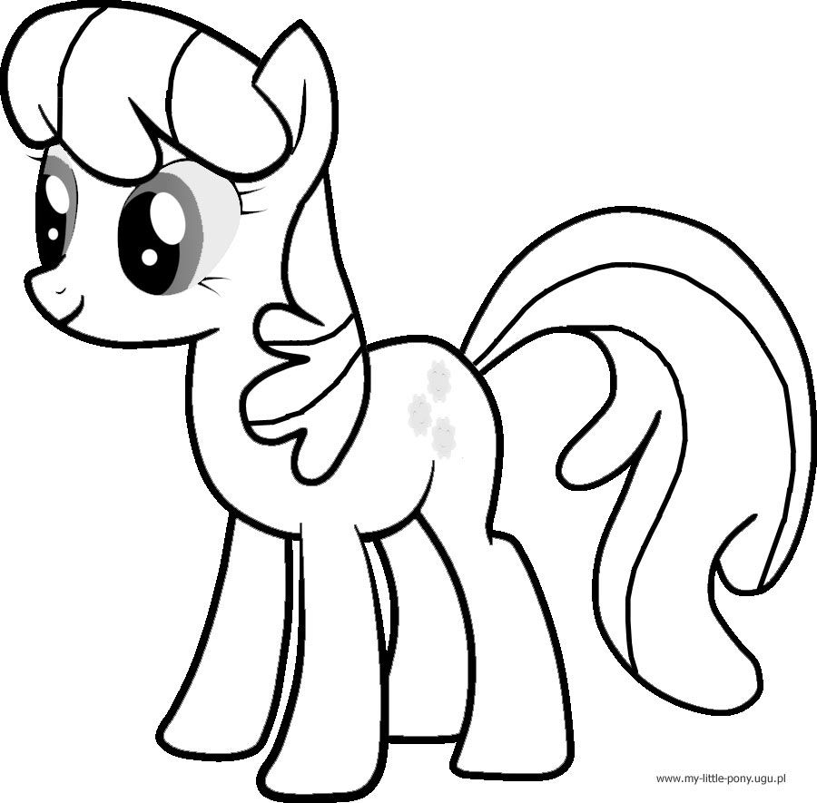 My little pony coloring pages trixie - Ponies