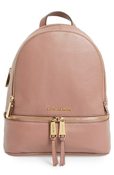 235af4a9fd47 MICHAEL Michael Kors  Extra Small Rhea Zip  Leather Backpack