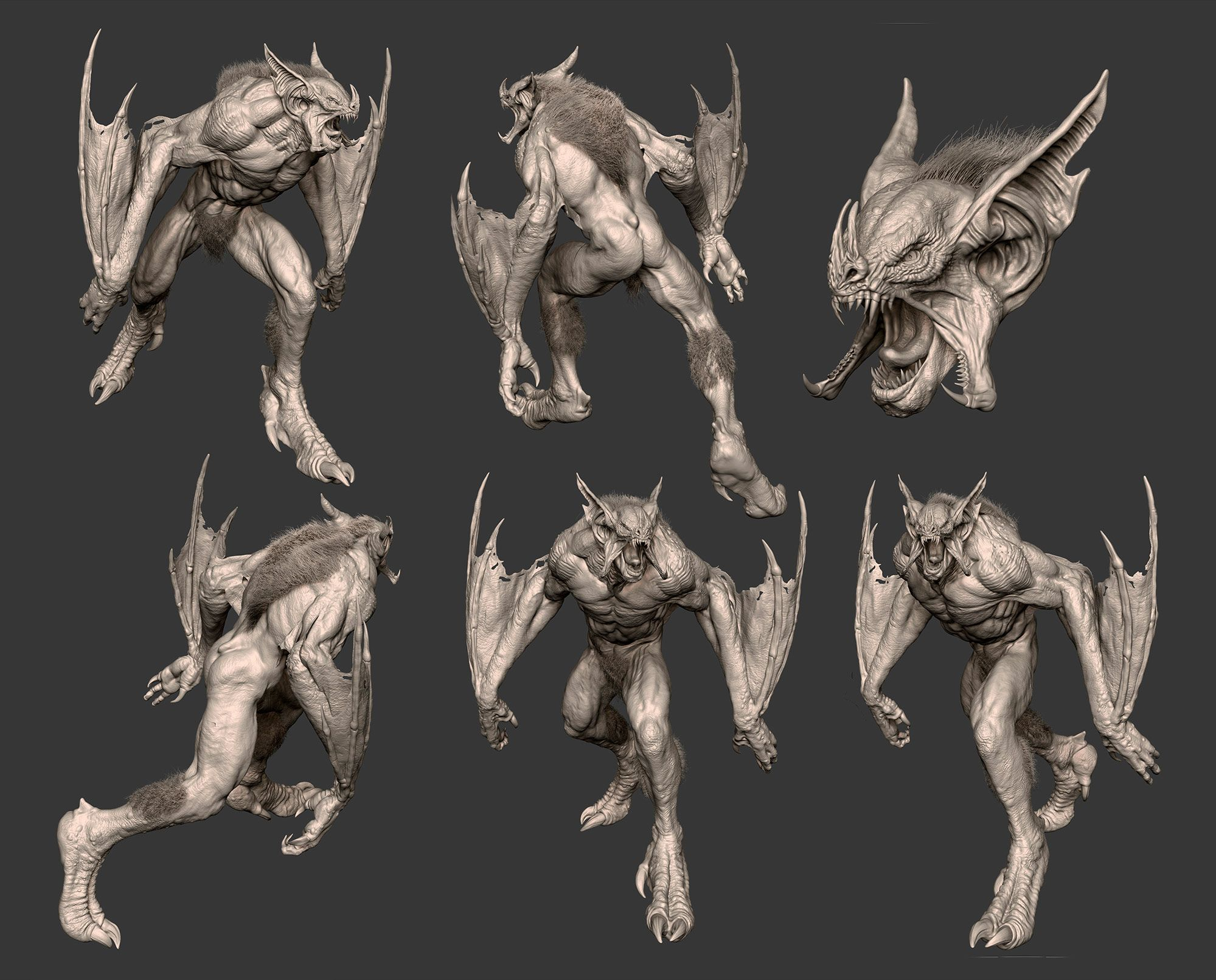 Cmivfx Zbrush Character Concept Design : Bat creature zbrush cg render renders