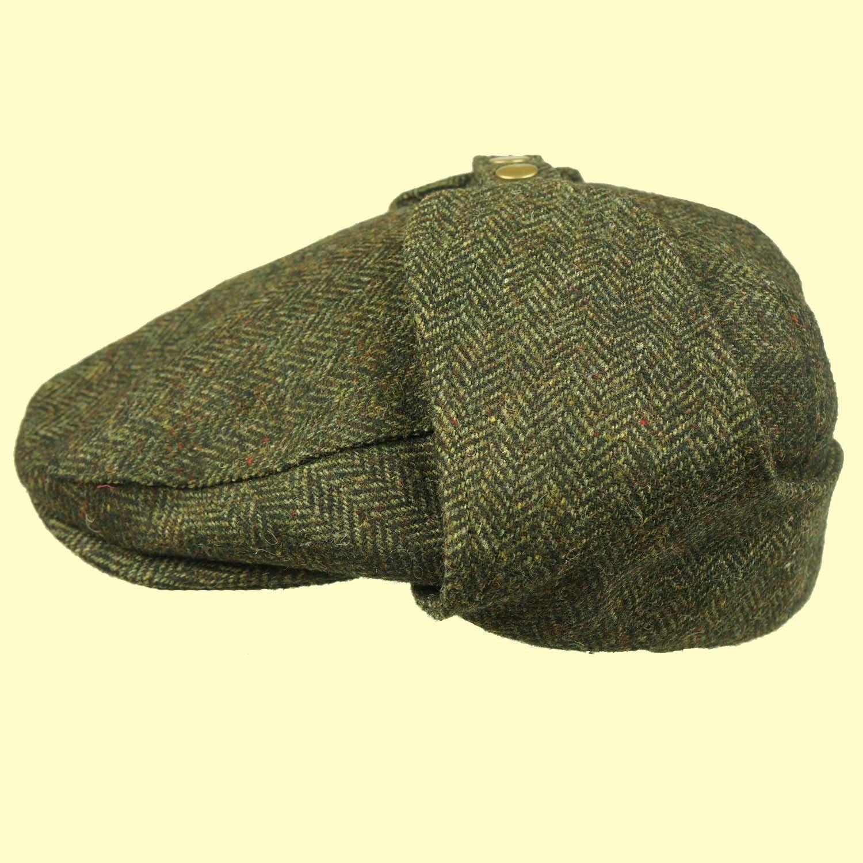 Bugatti Cap Earflap TWEED Hat OPEN SOFT TOP CAR Cap Shooting Cap Mr Toad Cap!