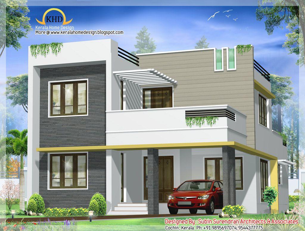 Contemporary villa design sq ft house plans pinterest