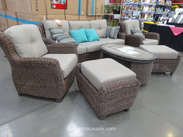 Kirkland Signature Braeburn Woven Seating Set Clearance Patio Furniture Costco Patio Furniture Outdoor Furniture