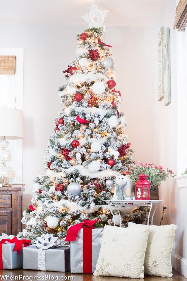 Christmas Home Tour Red & White Winter Wonderland