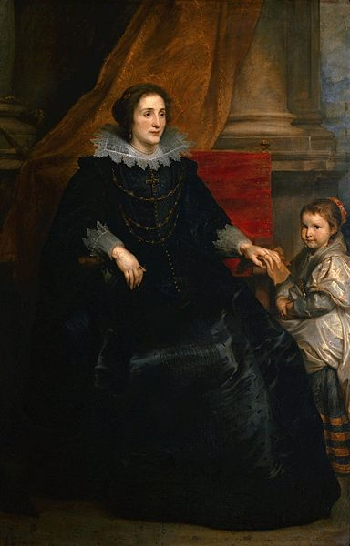 Portrait of a lady with her daughter, circa 1620 by Anthony van Dyck