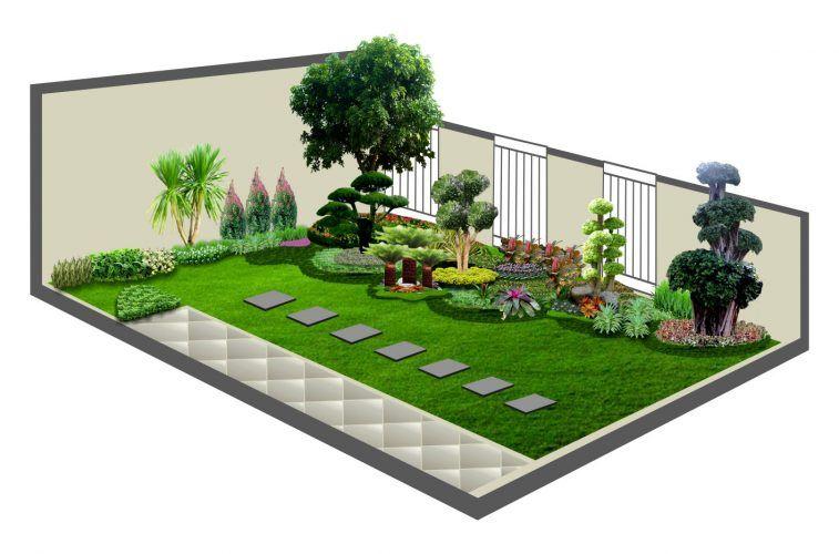 Halaman Rumah Kecil Cantik Ide Berkebun