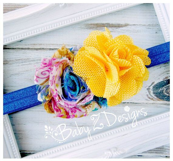 Country Swirl and Burlap Headband by babyzdesigns