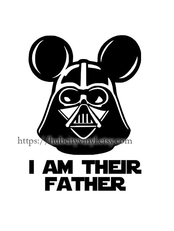 DIE CUT HEAT TRANSFER DECAL Complete Your Disney Vacation With - Star wars custom die cut vinyl stickers