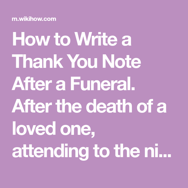thank you for attending funeral