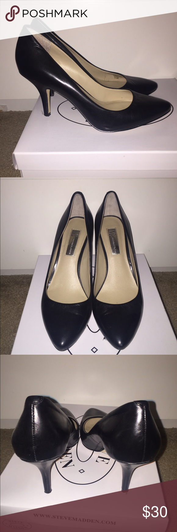 INC black pumps 7.5 Used condition, size 7.5. By the brand INC. 3 inch heel INC International Concepts Shoes Heels
