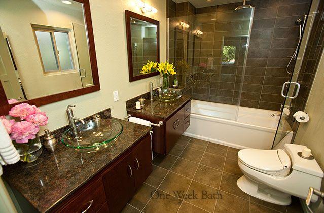 our bathrooms projects gallery bathroom half bathroom remodel rh pinterest com