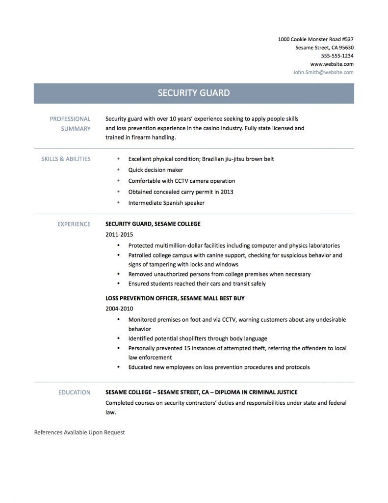 Security Officer Resume Sample Template Matters Well Make Sure Your Security Officer Resume