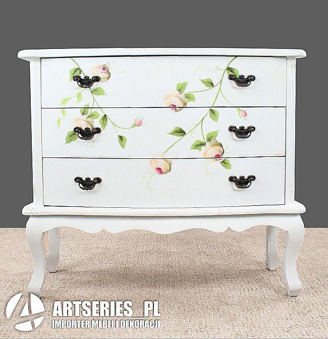 Stylowa Komoda Kwiatowa 53287 Szafka Biala W Malowane Kwiaty Artseries Decor Furniture Changing Table